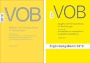 Paket: VOB Gesamtausgabe 2012 + Ergänzungsband 2015