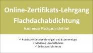 Online-Seminar Flachdachabdichtung