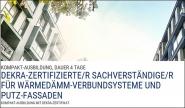 Sachverständiger für WDVS und Putzfassaden mit DEKRA-Zertifikat.