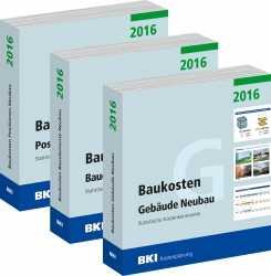 BKI Baukosten Neubau 2016. 3 Bände - Gesamtpaket.