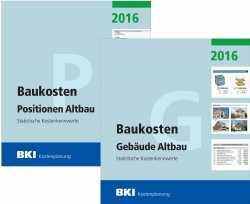 Gesamtpaket BKI Baukosten 2016 Altbau - Gebäude Teil 1 & Positionen Teil 2.