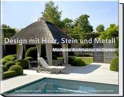 Design mit Holz, Stein und Metall.