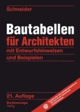 Bautabellen für Architekten.