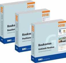 BKI Baukosten Neubau 2018. 3 Bände - Gesamtpaket.