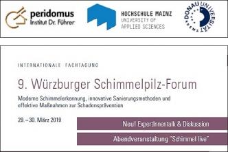 9. Würzburger Schimmelpilz-Forum am 29. & 30.3.19.