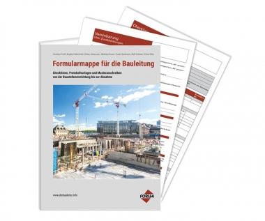 Formularmappe Für Die Bauleitung Medienservice Architektur Und