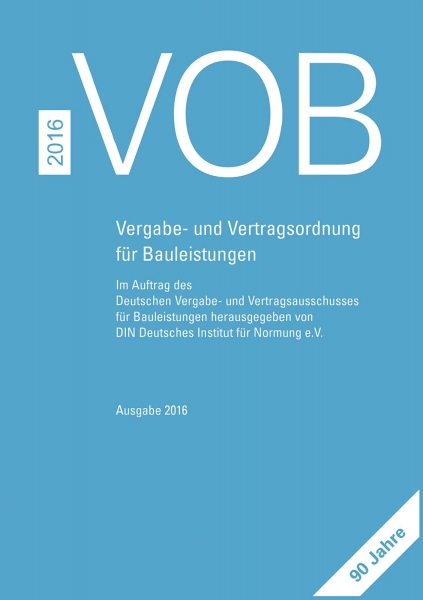 VOB 2016. Gesamtausgabe Teil A, B und C.