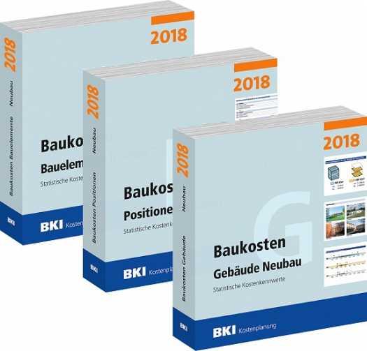 BKI Baukosten Neubau 2018. 3 Bände - ABO-Ausgabe!
