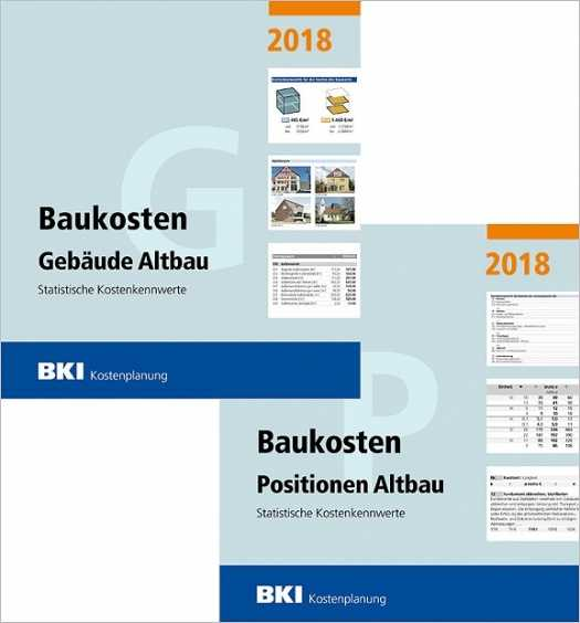 BKI Baukosten Altbau 2018 - Kombi Gebäude + Positionen