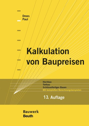 Kalkulation von Baupreisen.