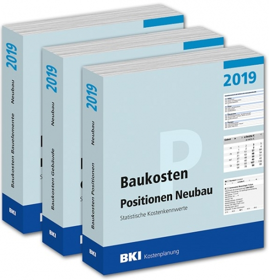 BKI Baukosten Neubau 2019. 3 Bände - ABO-Ausgabe