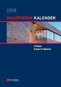 Mauerwerk-Kalender 2018. ABO-Version. € 20,- günstiger!