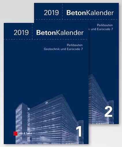Beton-Kalender 2019. 2 Bände
