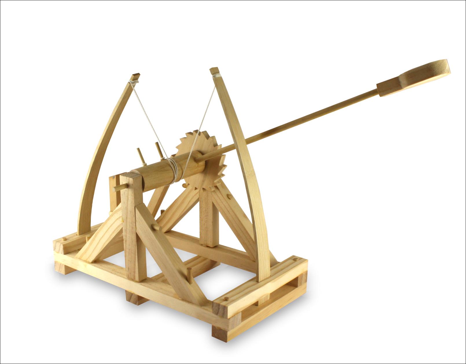 Da vinci katapult bausatz aus holz medienservice for Catapulta di leonardo da vinci