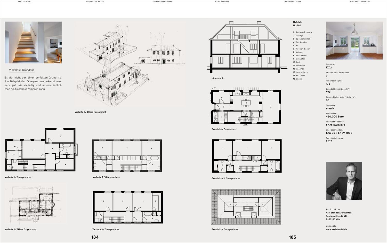 Grundriss Architektur architekturbuch grundriss atlas einfamilienhaus