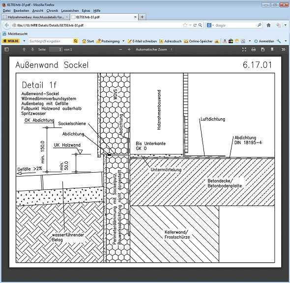 Holzrahmenbau details sockel  Holzrahmenbau-Details. CD-ROM. | medienservice architektur und ...