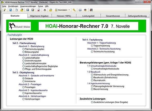 architekturfachbuch hoai rechner