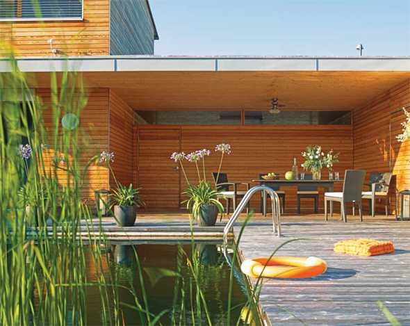 natürlich Leben Schwimmteich Vorteile Design Ideen Form