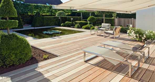 Gartenhaus Teich Haus Wald natürliche Reinigung Badespaß Filterzone