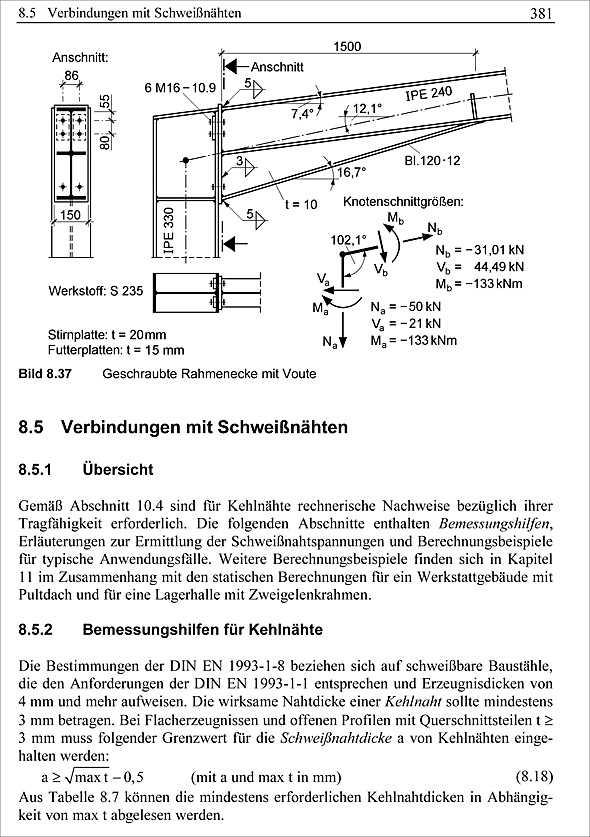 Stahlbau teil 1 grundlagen medienservice architektur for Stahlbau statik beispiele