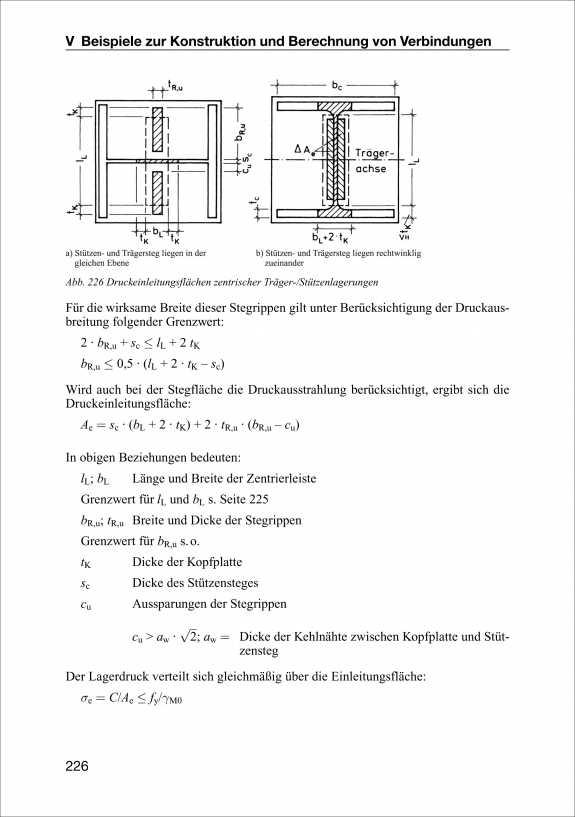 Tr ger st tzen verbindungen nach ec3 eurocode 3 teil 1 for Stahlbau statik beispiele