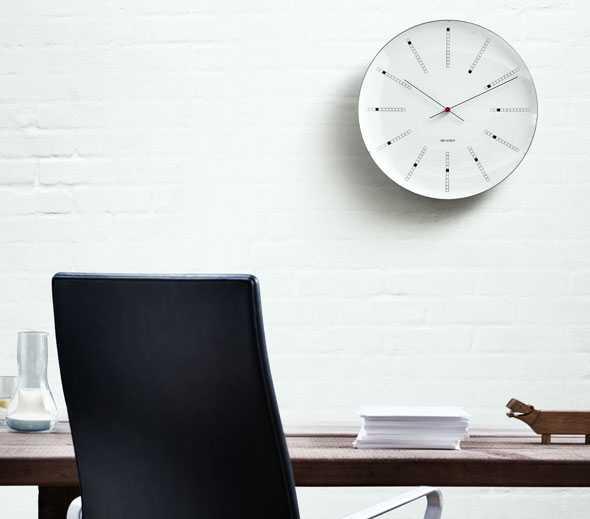 Garant Wohndesign: Arne Jacobsen: Bankers Clock